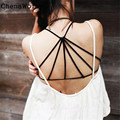 2016 New Fashion Summer Style 1PC Sexy Padded Bra Crop Tops Vest Cross Strap Bustier Beach Tank Tops Women Beach Swimwear Oct 10