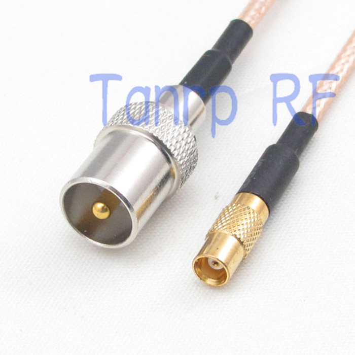 12in TV male plug  to MCX female jack RF adapter connector 30CM Pigtail coaxial jumper extension cord cable RG316 5 x rf antenna fm tv coaxial cable tv pal female to female adapter connector