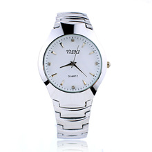 Fashion Casual New Silver Stainless Steel Lovers' Watches Dress Couple Quartz Watch For Lover's Gift relogio Clock Hours saat