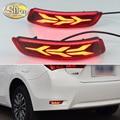 For Toyota Corolla Altis 2014 - 2018 Multi-function Car LED Rear Fog Lamp Bumper Light Brake Light Dynamic Turn Signal Reflector