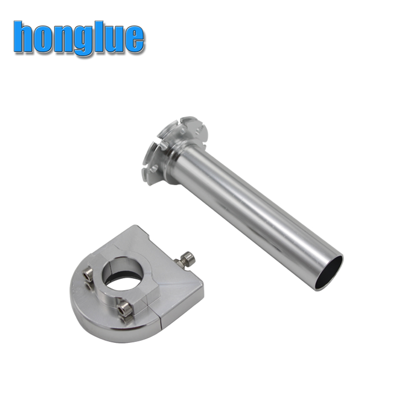 honglue 7/8 Inch Motorcycle Modified Universal CNC Aluminum Accelerator Throttle Twist Grips Motorcycle Handlebars