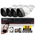 SUNCHAN 4CH Câmera Full HD de 2.0 Megapixel Bala Night Vision CCTV Sistema de Segurança Home 1080 P Sistema de Câmeras de Segurança 1 TB HDD