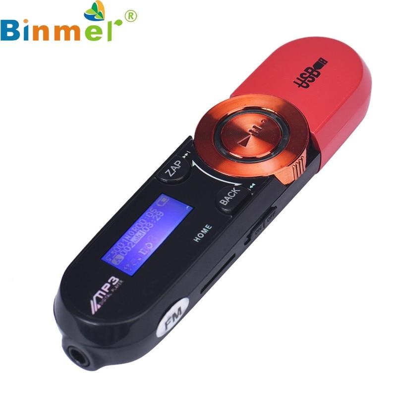 Binmer A18 Mecall new USB LCD Screen16GB Support Flash TF Player MP3 Music FM Radio Wholesale Oct21