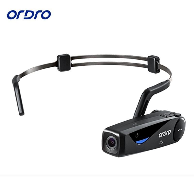 Condução óssea ORDRO EP5 Bluetooth 4. 0 Cabeça Mão Livre Ação Da Câmera Mini DV Filmadoras da banda com fone de ouvido Wi-fi livre