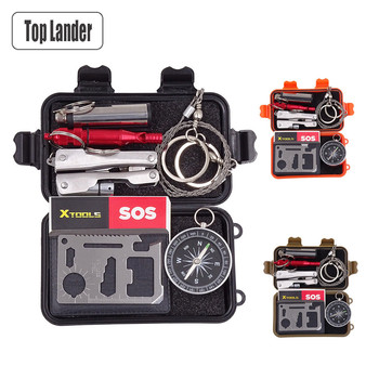 Bushcraft Outdoor Tools Tactical Survival Kit Set SOS Emergency Gear EDC Mini Multi Tool Multitool Gadgets Box Camping Equipment 1