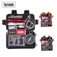 Kit de herramientas para exteriores Bushcraft, Kit táctico de supervivencia, equipo de emergencia SOS EDC, herramienta multiherramienta Mini, caja de accesorios, equipo de Camping
