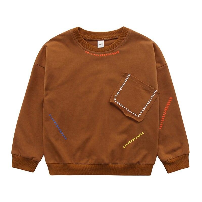 Teenager Boys T-Shirt 2018 Autumn&Spring Brand Baby Boys Full T-Shirt Cute silid Long Sleeve Shirts Children Clothing Blouse