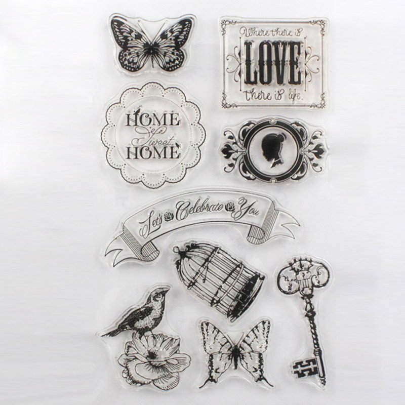 Animals Flowers and Small Decoration Patterns PVC Stamp for Album Using Needing Acrylic Plate