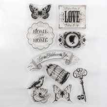 Animals, Flowers and Small Decoration Patterns PVC Stamp for Album Using Needing Acrylic Plate