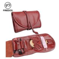 FIREDOG Smoking Pipe Case Genuine Leather Pouch Organize Bag for 2 Pipe Weed Tool Lighter Holder Pocket Smoking Accessories