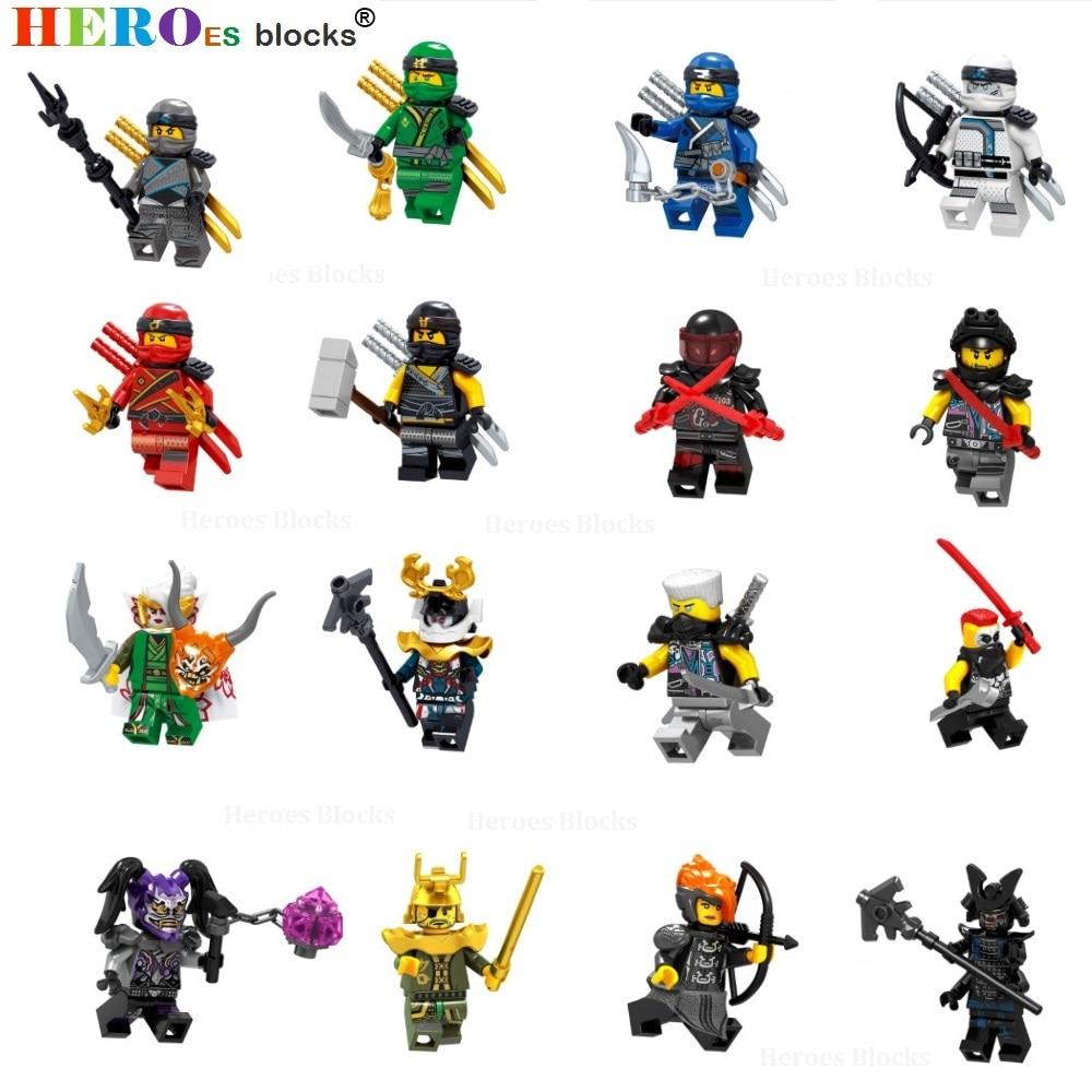 2019 Ninja Figures Lloyd Kai Jay Zane Cole Nya Carmadon Ninjagoed Movie Figuras Building Blocks Set Toys For Children Boy Gifts