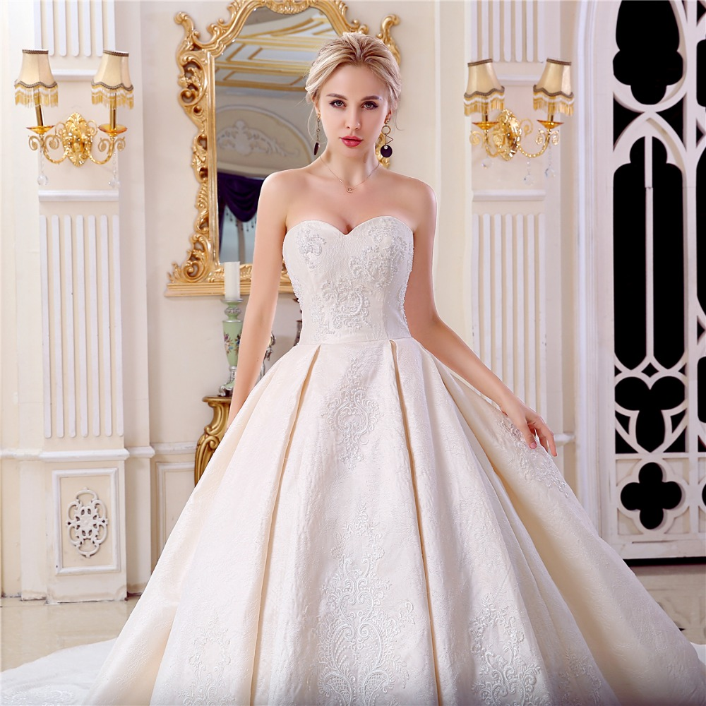 Classic Wedding Gowns 2018: Aliexpress.com : Buy Vestido De Noiva Champagne Cathedral
