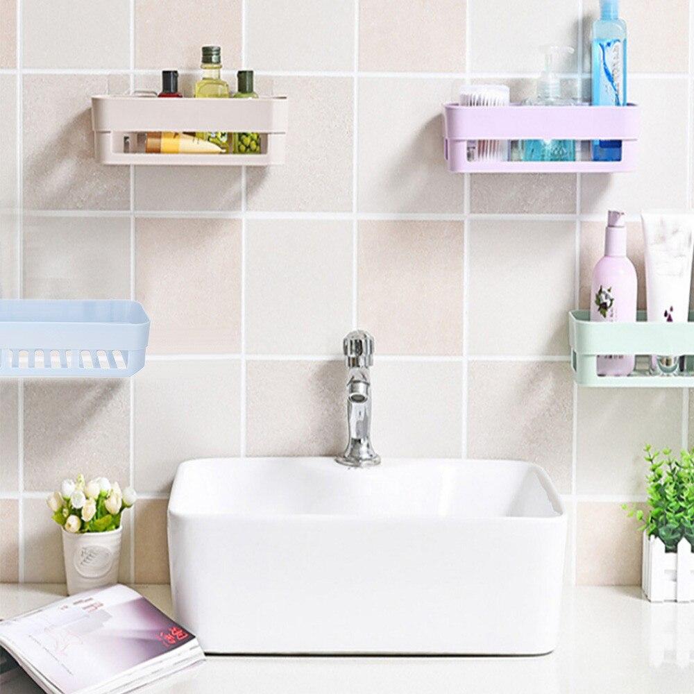NewPlastic Suction Cup Bathroom Kitchen Corner Storage
