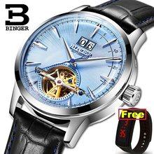 b4950edfacc Suíça BINGER Relógios dos homens Marca de Luxo Movimento Japão SEIKO Men  Relógio Mecânico Automático Sapphire