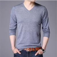 Smeiarar New spring men knitted sweatershirt style knit 2018 cotton V neck pullovers Slim male knitted red wine black P P 333