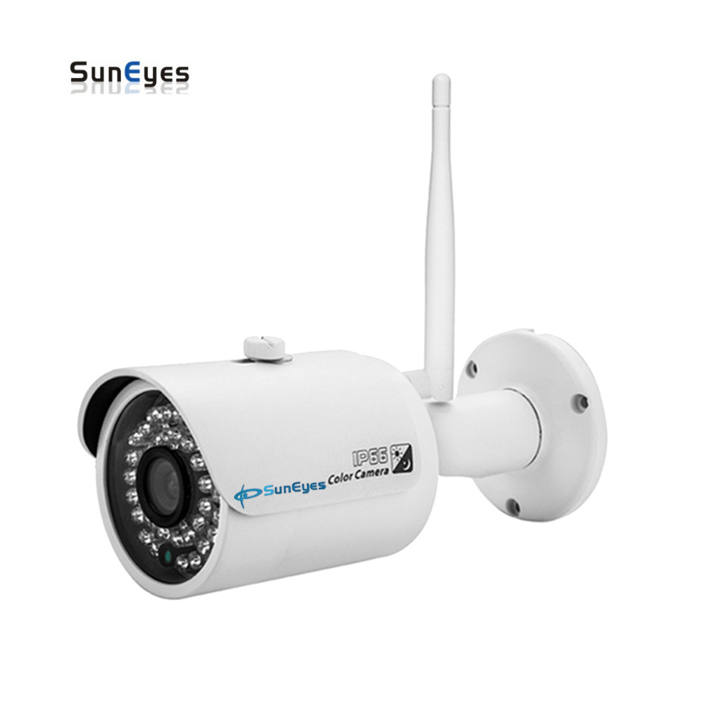 SunEyes SP-V701W 720P/1080P HD Mini IP Camera Outdoor Wireless Waterproof ONVIF and RTSP Support IR Night Vision Free P2P suneyes sp v702w 720p hd mini dome ip camera outdoor wireless wifi weatherproof onvif and rtsp with free p2p metal alloy case