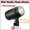 Mcoplus 110V 200W Professional Mini Studio Flash Light Strobe for Photograph Lighting