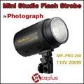 Mcoplus 110V 200W Professional Mini Studio Flash Light Strobe for Photograph Lighting