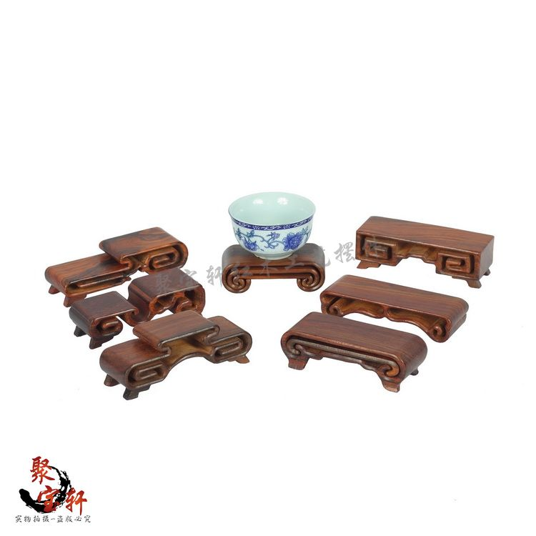 Annatto handicraft solid wood carving jade stone the mythical wild animal furnishing articles little book vouchers base wooden special rosewood carving annatto handicraft circular base of real wood of buddha flowerpot stone vases furnishing articles