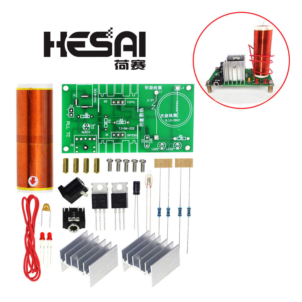 CNIKESIN DIY Mini Tesla Coil Kit 15W Mini Music Tesla Coil