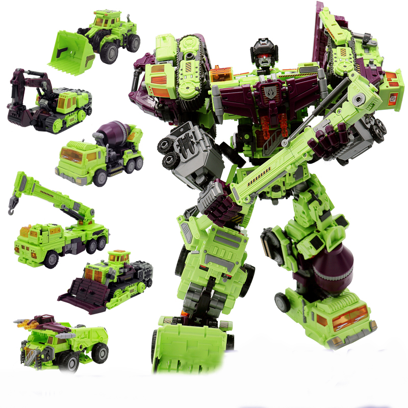6 in 1 IN-STOCK NBK 01-06 Hook Transformation Robot Ko Version Gt Scraper Of Devastator Action Figure Toys Outdoor Beach [hot] action figure ko version kids classic robot cars devastator right thigh action figure toys for children model toy