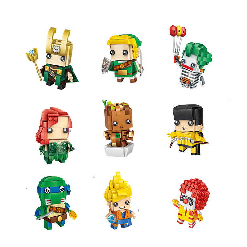 LOZ super hero Anime diamond block cute building blocks toys bricks educational Action Figures Toys for Children Christmas gifts