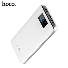 HOCO 18650 Power Bank 20000mah LED External Battery Portable Mobile Fast Charger 3 USB Powerbank for iPhone X 8 7 Xiaomi Samsung