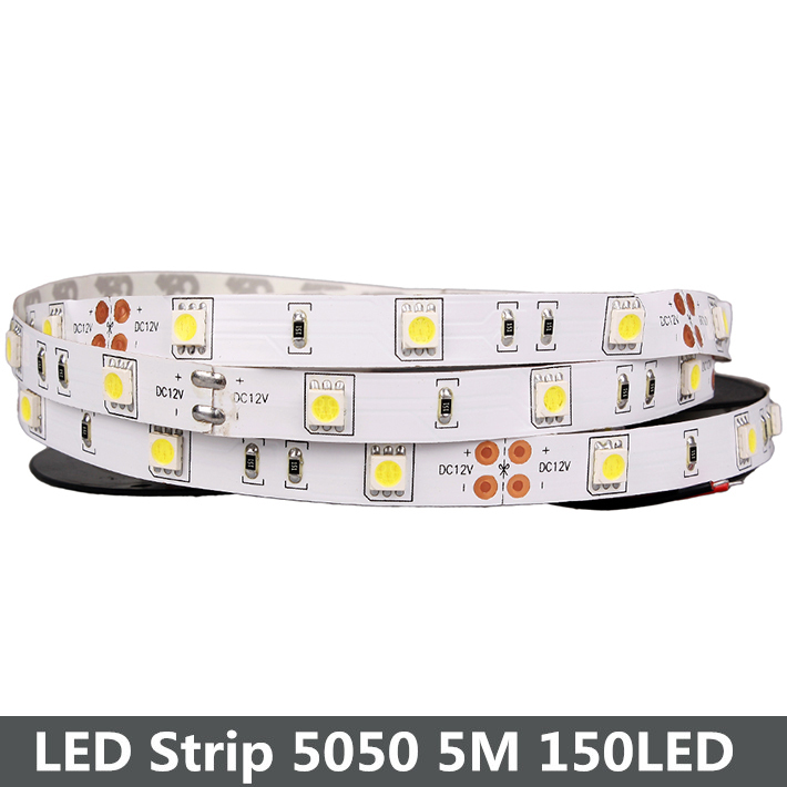 Nonwaterproof RGB LED Strip 5050 5M 150Led SMD LED Ribbon Cool White Warm White Light 30LED/M LED Tape