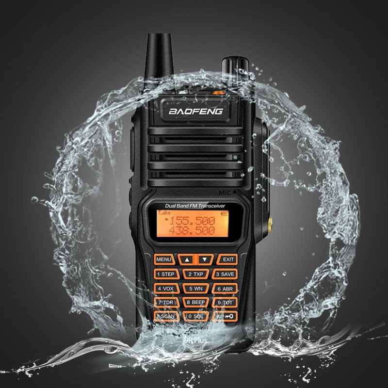 Baofeng UV 9R Plus Waterproof font b Walkie b font Talkie 8Watts Two Way Radio Dual