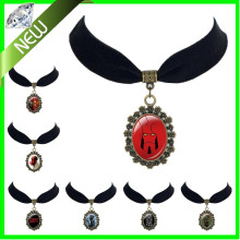 Hot Sale Euro-American Movie Hellboy Black Velvet Choker necklace New Unisex Trendy Movie Jewelry Wholesale unique necklace
