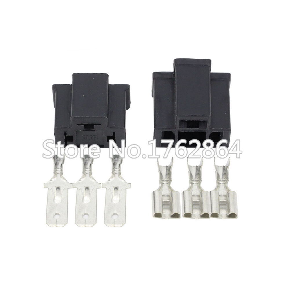 PA66 H4 3 Pin Unsealed Cable Wire Connector Electrical Connector Automotive Plug Lamp Holder Socket DJ7033-7.8-11/21 3P