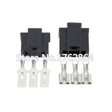 цена на 10 Sets PA66 Motorcycle H4 3 Pin Unsealed Cable Wire Connector Electrical Connector Automotive Plug Lamp Holder Socket
