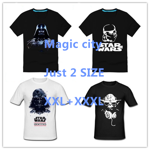 Men Yoda Star Wars Darth Vader T Shirts Male Cotton Short Sleeve T-shirt Funny Print T-shirts SIZE 3XL FREE SHIPPING