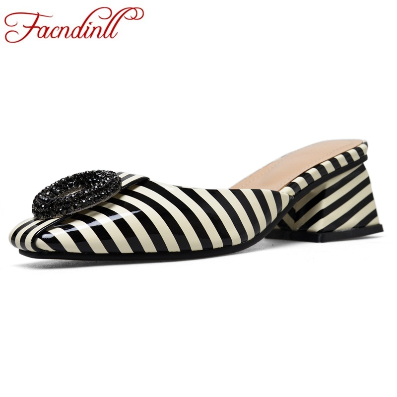 FACNDINLL 2018 new fashion shoes woman fladiator sandals summer shoes square heels open toe women dress party casual shoes black vankaring new sandals shoes women cruare strange style low heel open toe summer woman black dress party casual sandals slipper
