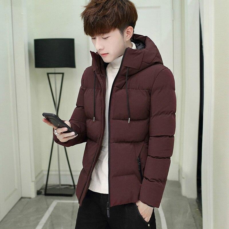2018 Choynsunday Windjacken Padded Mantel Casual Oberbekleidung Mode Mit Kapuze Jacken Heißer Verkauf Dicke Warme Einfarbig Männlichen Mantel