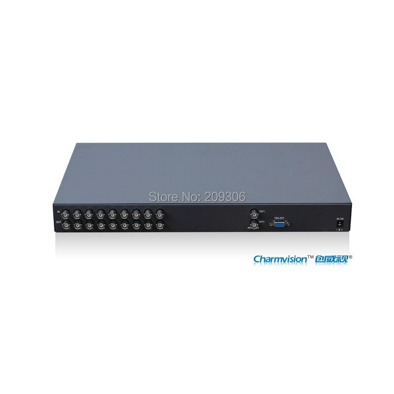 Genossenschaft Charmvision Vs901vr 9 Bildschirm Farbe Quad System Vga Ausgang Splitter Prozessor Cctv Echtzeit Quad System Schalter Fernbedienung GläNzend Kvm-switches