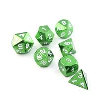 Rpg Dobbelstenen Metalen Dnd Polyhedral Sets Dados Dungeons And Dragons Aluminium Zwart Dices D20 10 12 6 Tafel Games Transparan