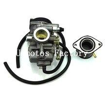 Size 30mm JS250 Motorcycle Carburetor TK JIANSHE LONCIN BASHAN 250cc ATV QUAD ATV250 JS250 Carburetor And Rubber Interface