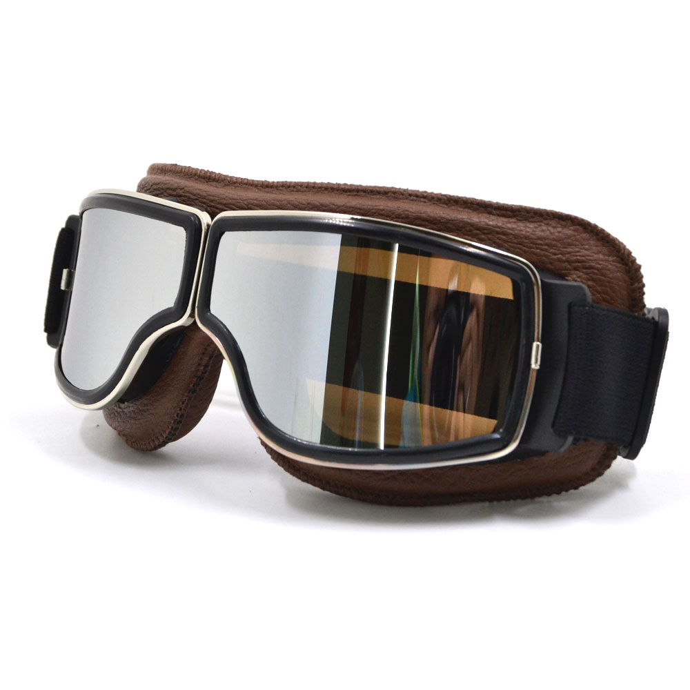 BJMOTO Brand New Cool Scooter Motocross Goggle Glasses Motorcycle Cycling Goggles Cruiser Steampunk ATV Bicycle Eyewear Glasses new arrival soman brand motocross goggles atv casque motorcycle glasses with 5 tear off films
