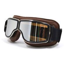 BJMOTO Brand New Cool Scooter Motocross Goggle Glasses Motorcycle Cycling Goggles Cruiser Steampunk ATV Bicycle Eyewear Glasses