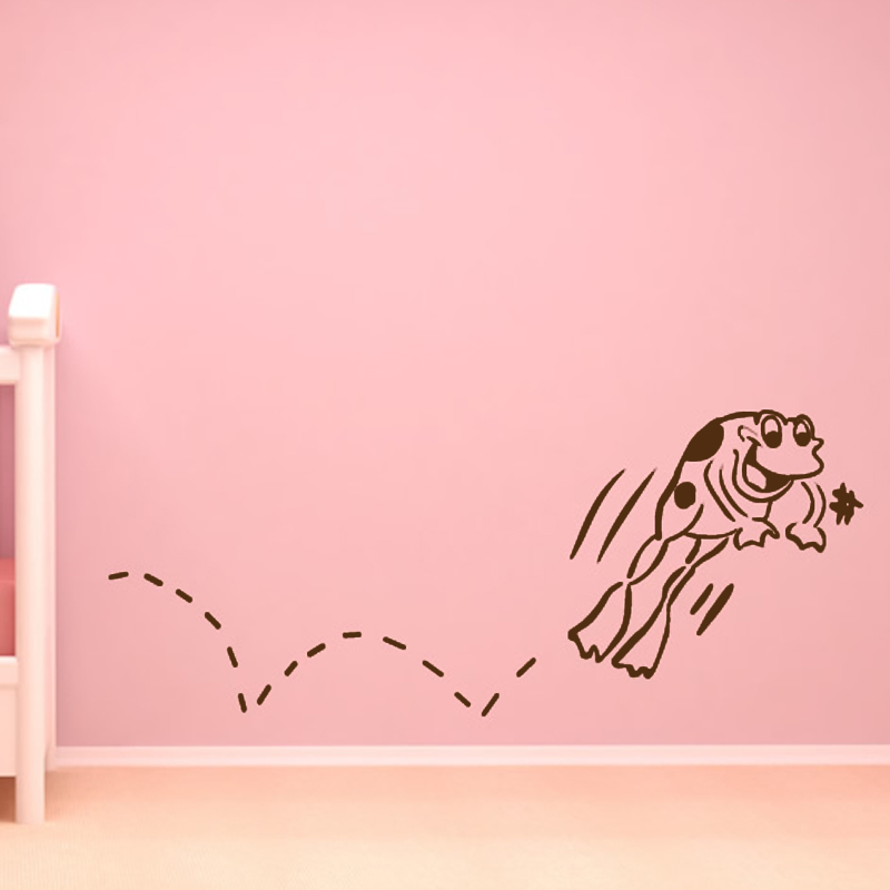 Happy Jumping Frog Wall Sticker DIY Removable Home Decor Funny Babys Room Decorative Wall Decal Vinyl