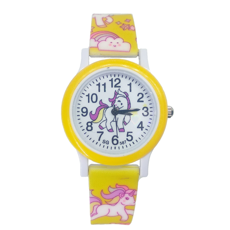 2020 Hot Baby Watch Children Fashion Cute Horse Cartoon Girls Boys Child Quartz Clock Student Sport Kids Watches Baby Watch Gift