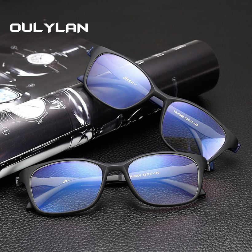 c107bf9b7fb Oulylan Ultralight Anti Blue-ray Reading Glasses Women Men Anti-fatigue Prescription  Eyeglasses Diopter