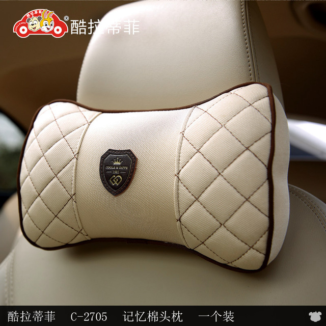 1 pcs car accessories bow pillow comfortable breathable car cushion car with memory foam pillow