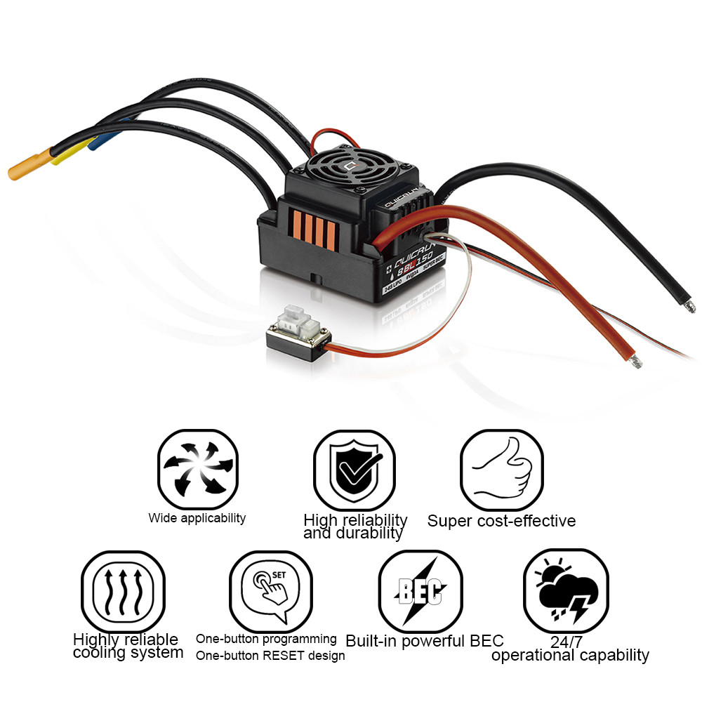 Hobbywing QuicRun 1:8 Brushless WaterProof 150A ESC RC Car Off Road #WP-8BL150Hobbywing QuicRun 1:8 Brushless WaterProof 150A ESC RC Car Off Road #WP-8BL150