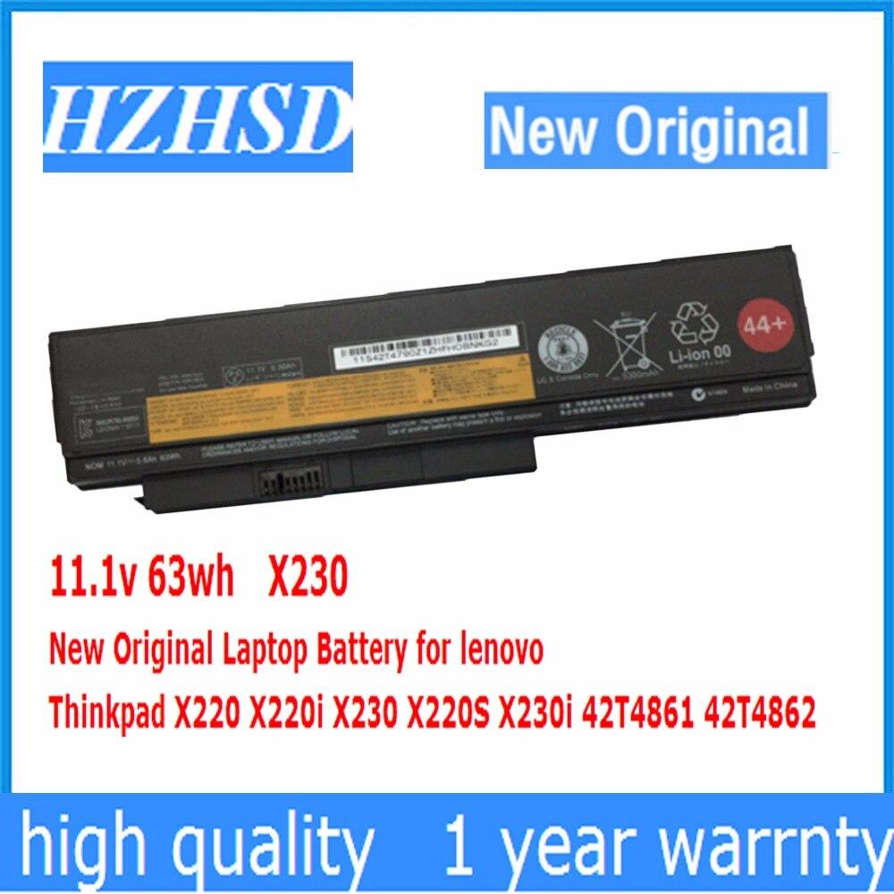 11.1 v 63wh Nouveau Original X230 batterie d'ordinateur portable pour lenovo Thinkpad X220 X220i X230 X220S X230i 42T4861 42T4862