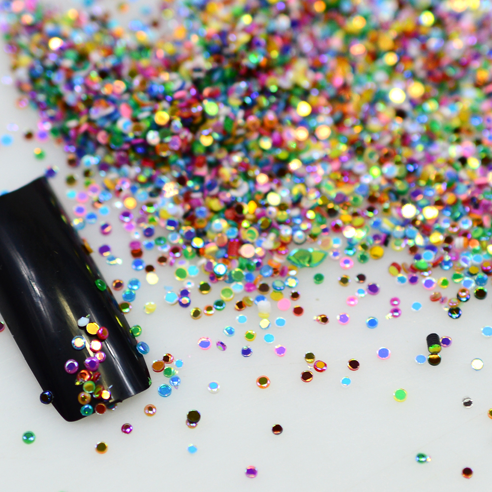 Hot Sale 2g Mix Colors Acrylic Nail Art Glitter Powder