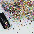 Venda quente 2g Mix Cores Acrílico Nail Art Glitter Em Pó poeira Nail Art Decoração Dica Kit Rodada Glitters Unhas Garrafa Y06