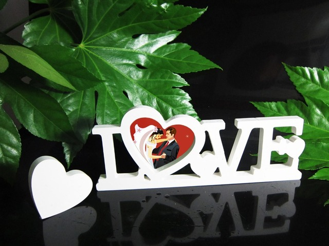 Photo frame Conjoined letter LOVE Home Decor Decoration Artificial ...