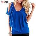 2016 Новый Сексуальный Стиль Женщины Лето Нерегулярные Блузки С Плеча Рубашки Женщин Топы Blusas Femininas